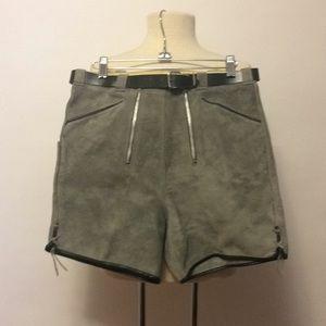 Vintage Suede Leather Lederhosen Shorts